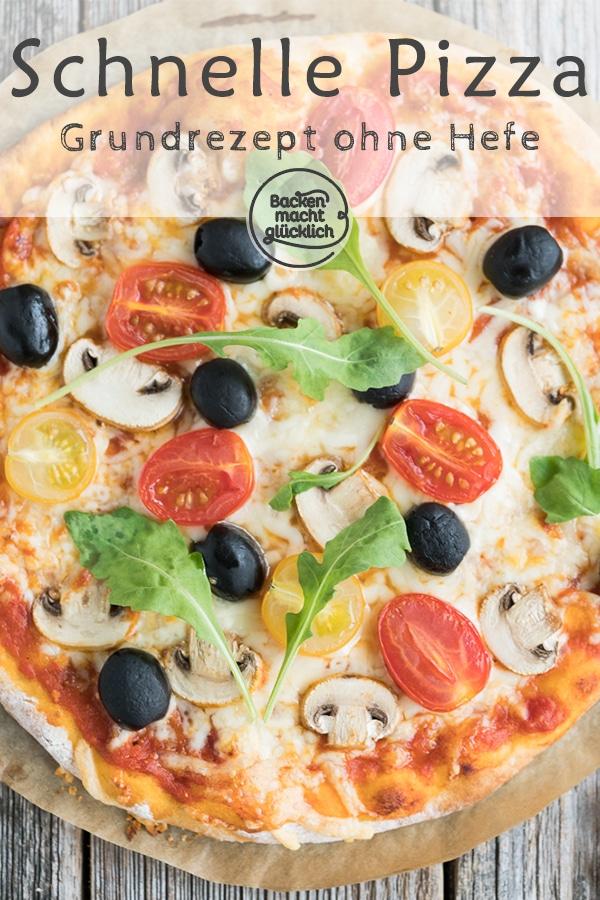 Schneller Pizzateig Ohne Hefe Backen Macht Glücklich