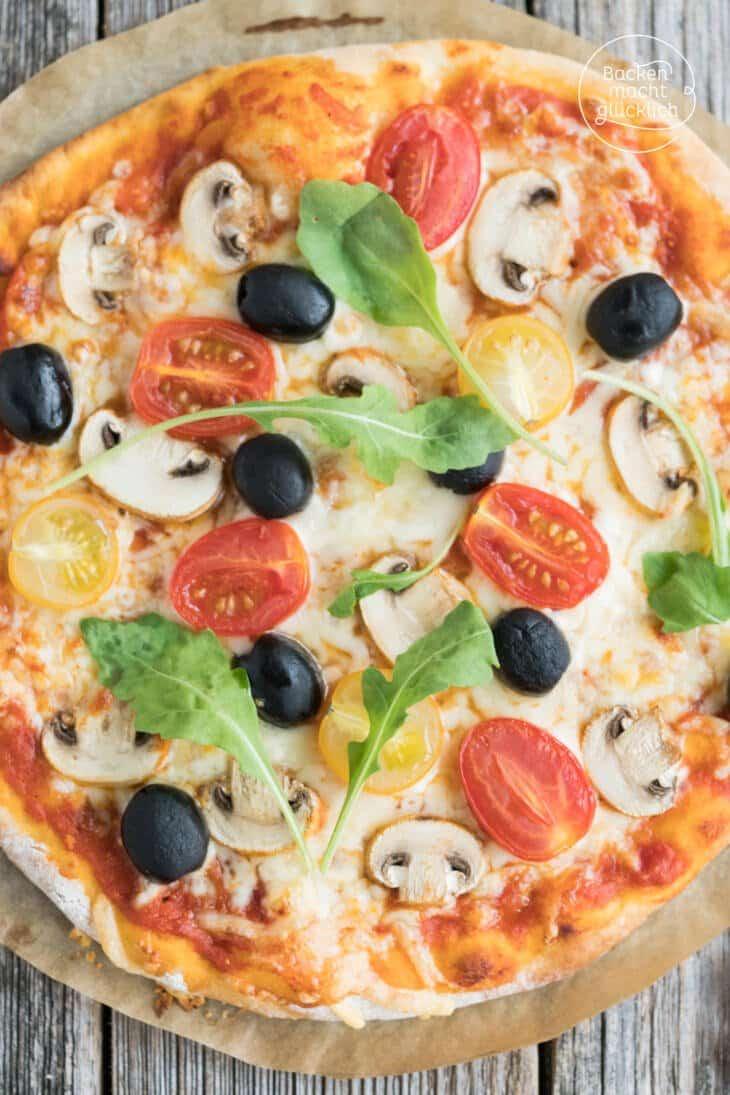 Häufig Schneller Pizzateig ohne Hefe | Backen macht glücklich GJ86