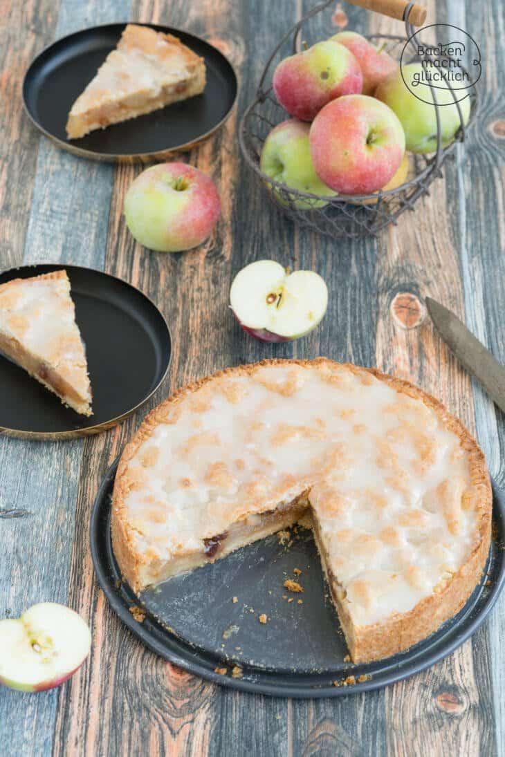 Omas gedeckter Apfelkuchen