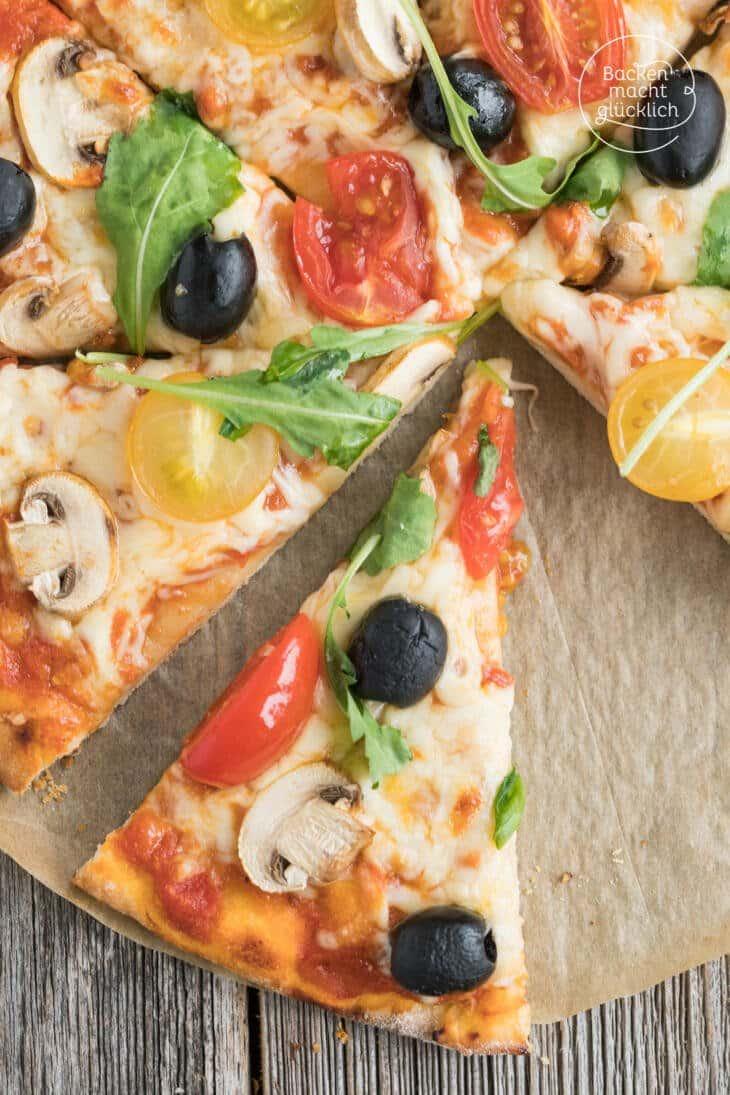 Häufig Schneller Pizzateig ohne Hefe | Backen macht glücklich UL47