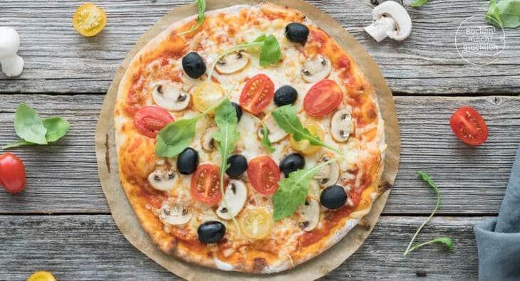 Hervorragend Schneller Pizzateig ohne Hefe | Backen macht glücklich CB72