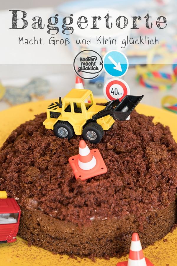 Einfacher Baustellen Kuchen Baggertorte Backen Macht Glucklich