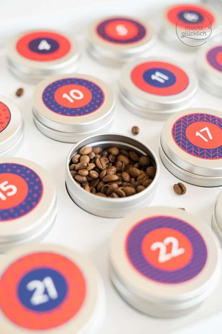 Adventskalender Kaffeebohnen