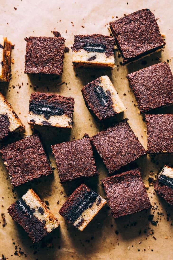 vegane Cookie brownies