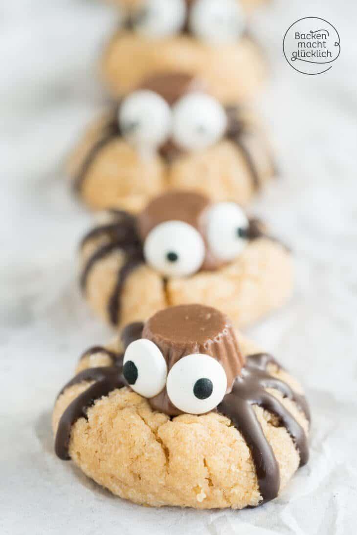 Spinnen Cookies Für Halloween Backen Macht Glücklich