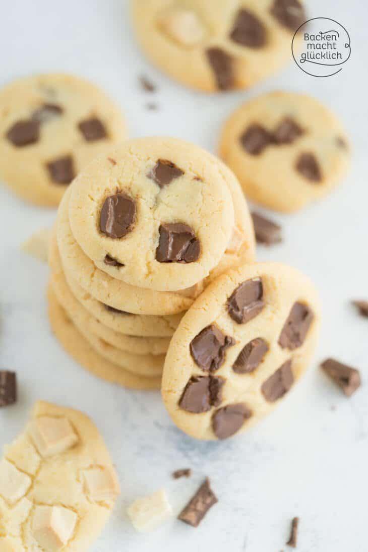 weiche Chocolate Chip Cookies ohne Ei