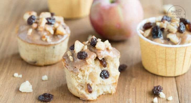 Bratapfel-Muffins mit Marzipan