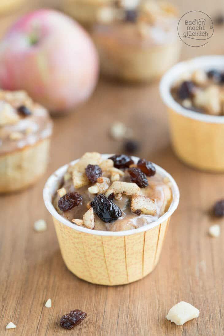 Bratapfel-Muffins mit Rosinen