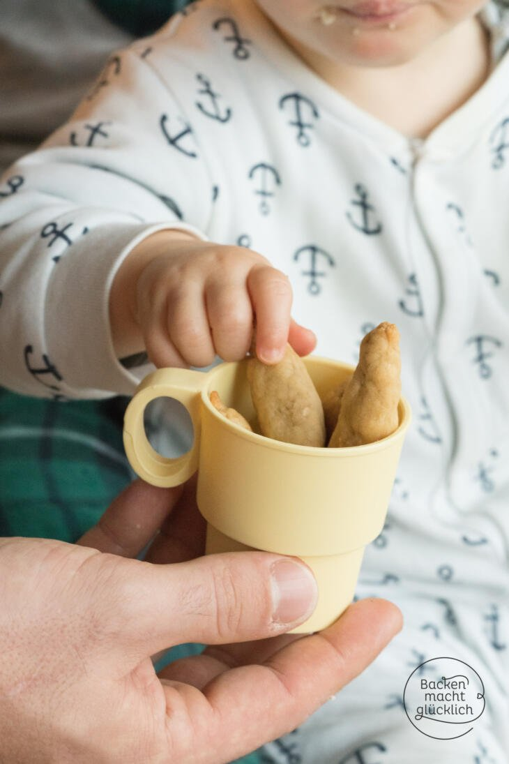 Brotstangen für Babys backen