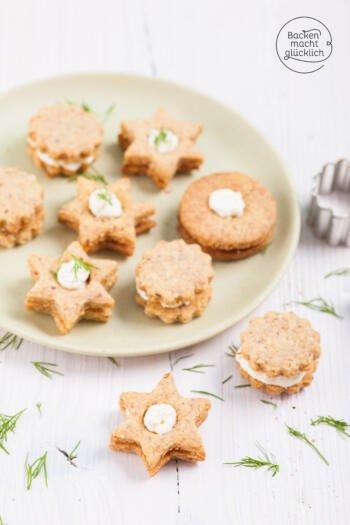 herzhafte kekse mit füllung
