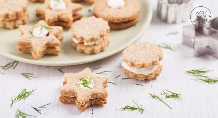 Herzhafte Kekse mit Frischkäse