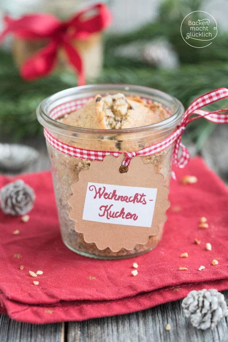 Schoko-Weihnachtskuchen im Glas