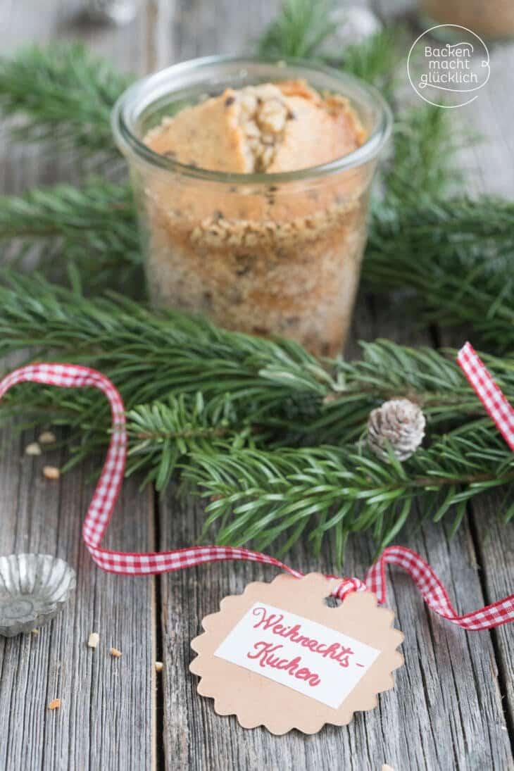weihnachtskuchen im Glas backen