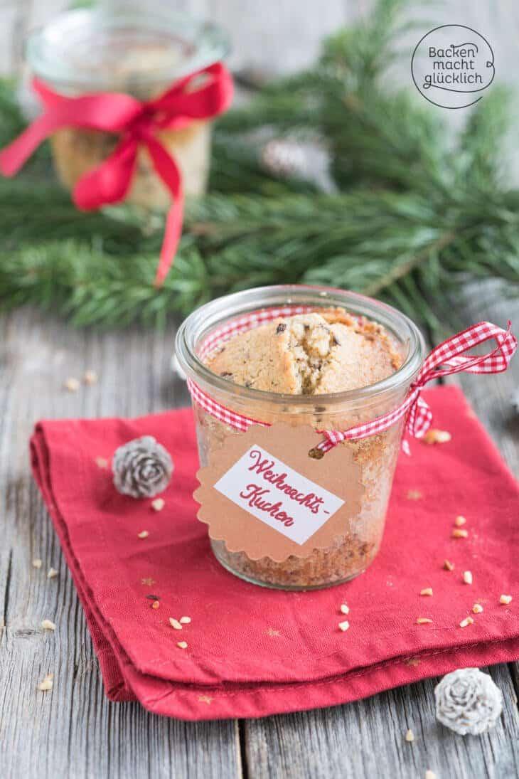 Weihnachtskuchen zum Verschenken
