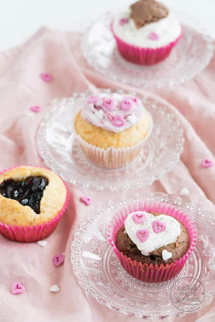 Valentinstagmuffins einfaches Rezept