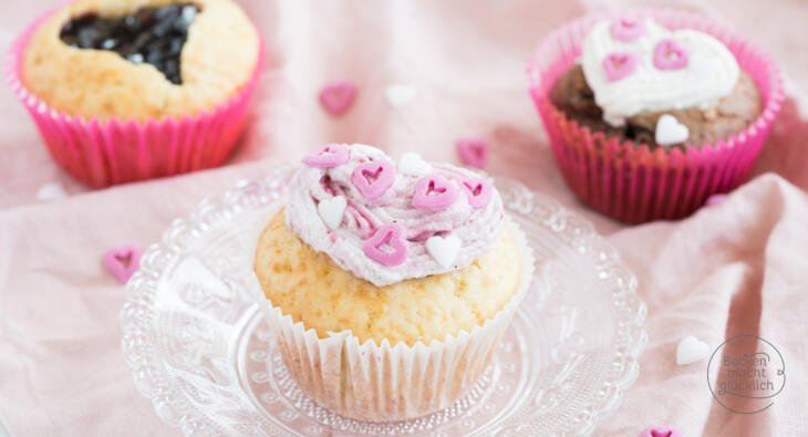 Valentinstag Cupcakes backen