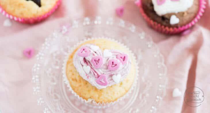 Valentinstag Cupcakes einfaches Rezept
