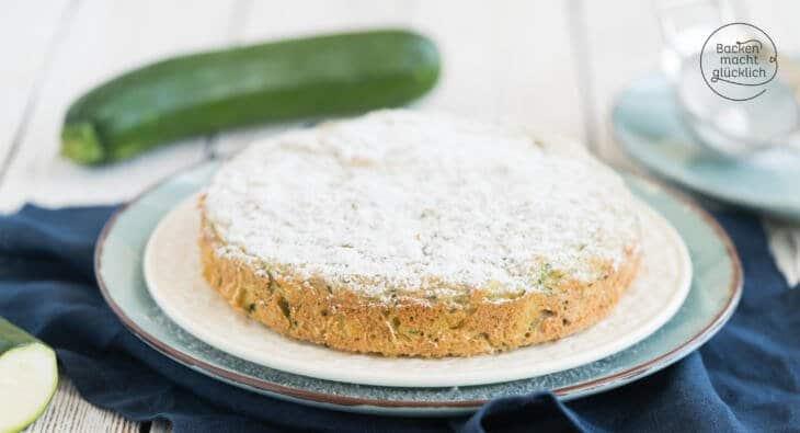 gesunder zuckerfreier Kinderkuchen mit Zucchini