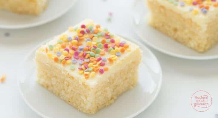 Konfetti-Kuchen Funfetti-Kuchen vom Blech