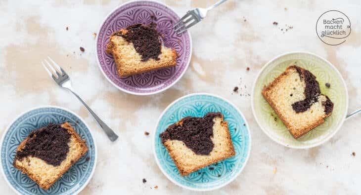 Marmorkuchen ohne Butter, Milch und Ei