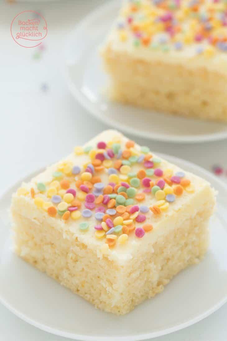 Konfetti Kuchen Vom Blech Backen Macht Glucklich