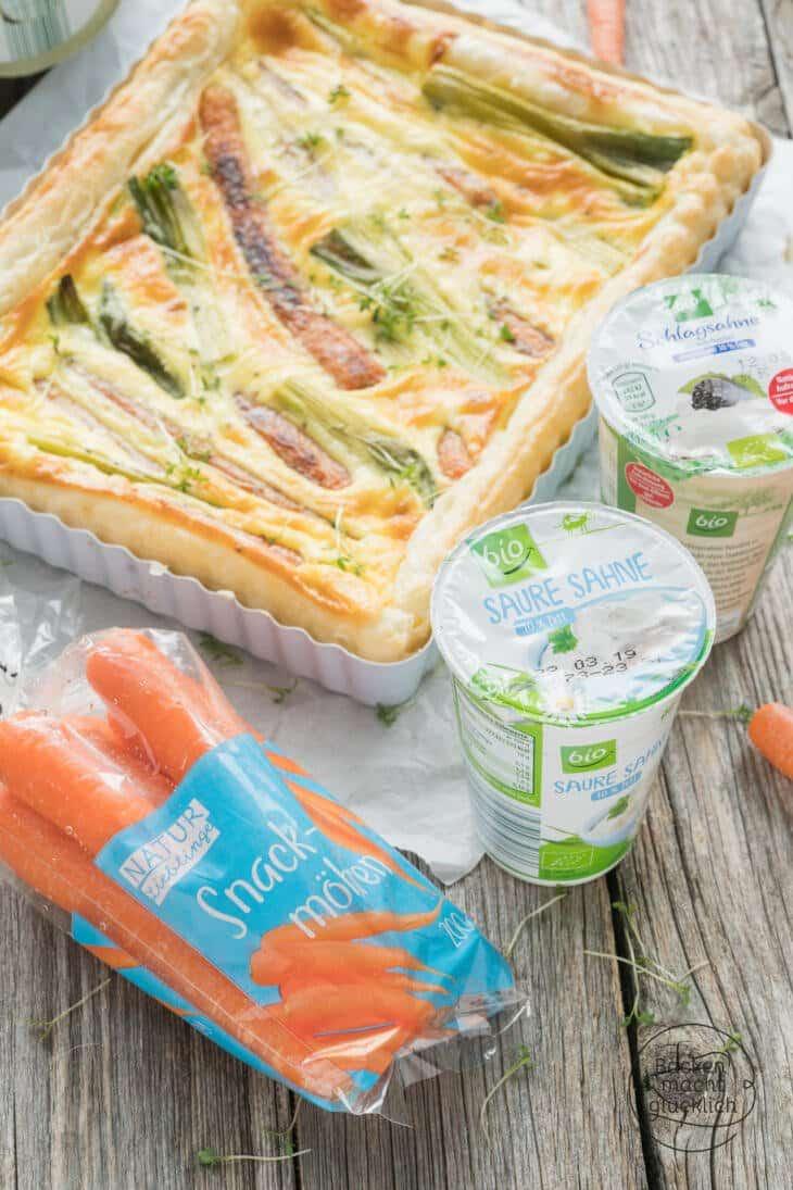 Karotten-Tarte mit Blätterteig