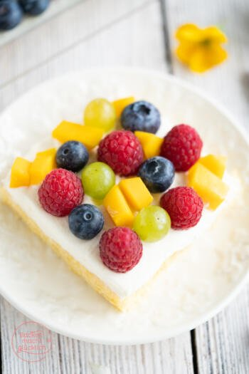 Biskuit Obstkuchen Blech