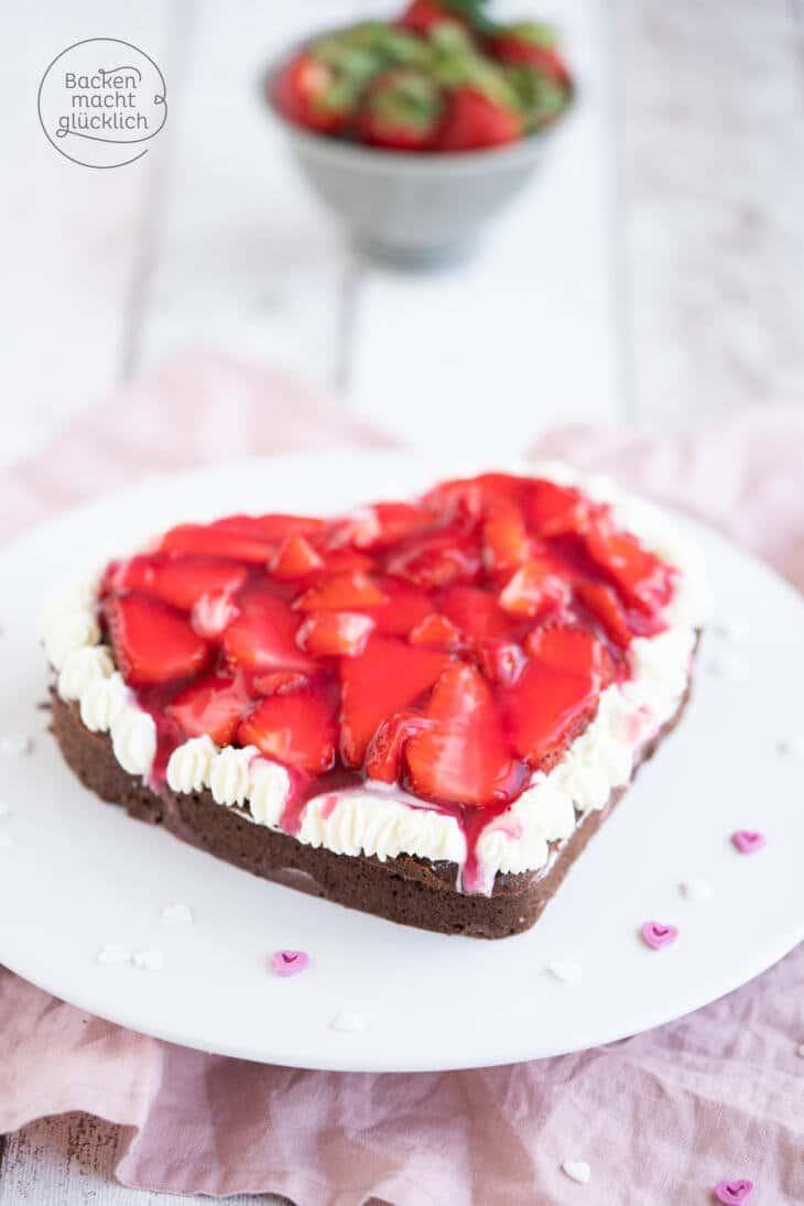 Erdbeer-Schoko-Herz Torte