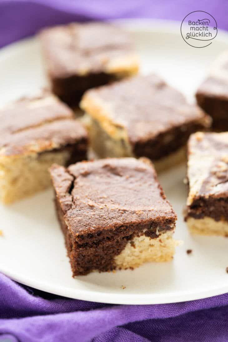 Marmorkuchen ohne Mehl und Zucker