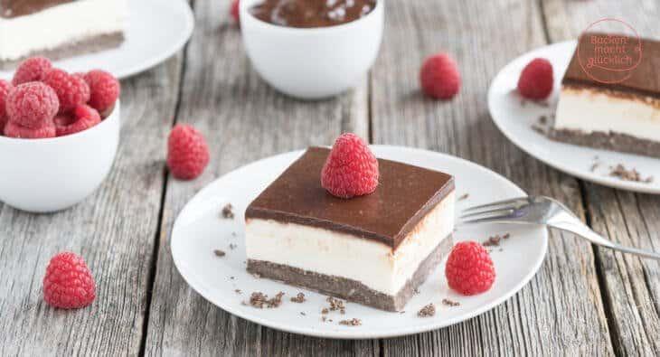 Schwarz Weiß Cheesecake