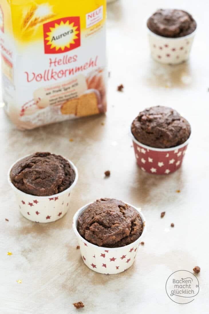 Vollkorn Schoko Muffins