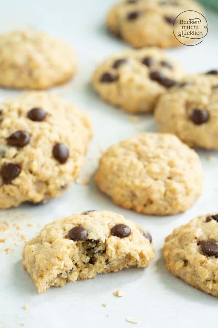 amerikanische Hafer-Schoko-Cookies