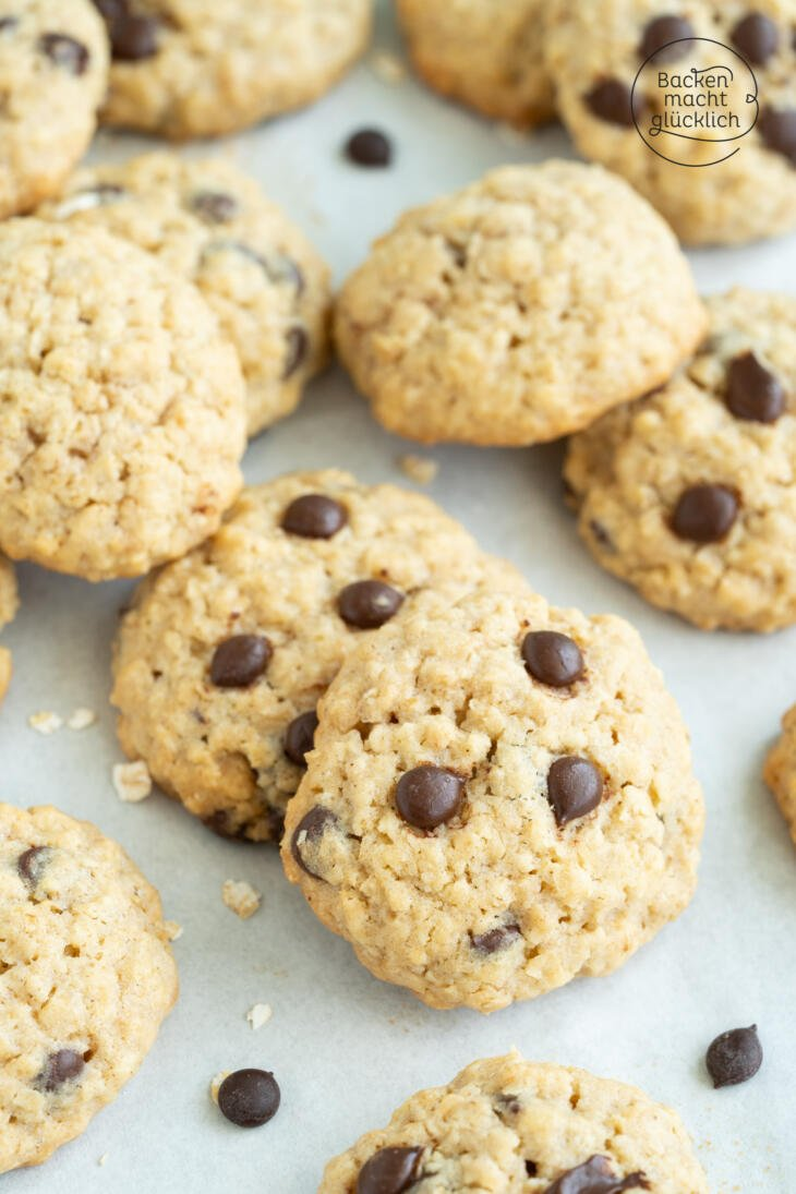 amerikanische Hafer-Cookies