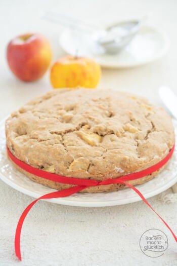 Apfelkuchen vegan zuckerfrei weizenfrei