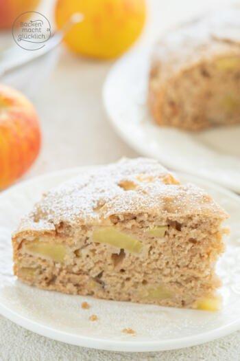 Apfelkuchen ohne Ei Milch Butter Zucker