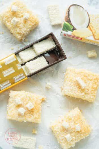Buttermilchkuchen mit Kokos vom Blech