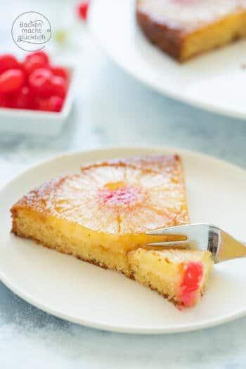 Gestürzter Ananaskuchen mit Karamell