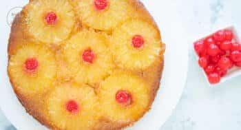 Gestürzter Upside Down Kuchen Ananas