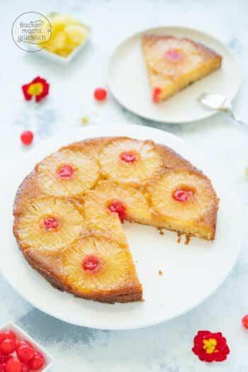 Upside Down Kuchen mit Ananas