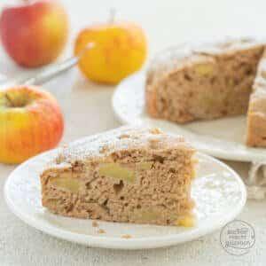 veganer Apfelkuchen ohne Zucker, Ei, Butter