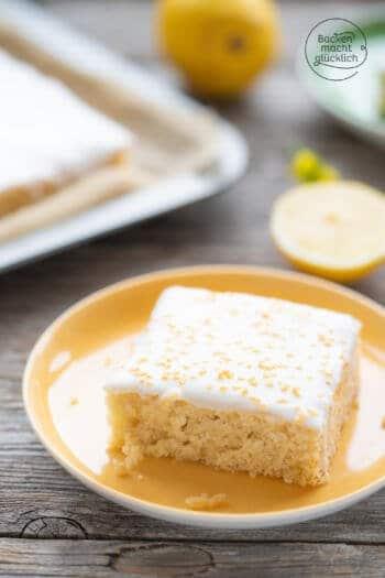 veganer Zitronenkuchen ohne Eier und Milch