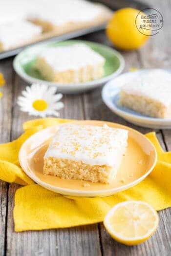 Veganer Zitronenkuchen Blech