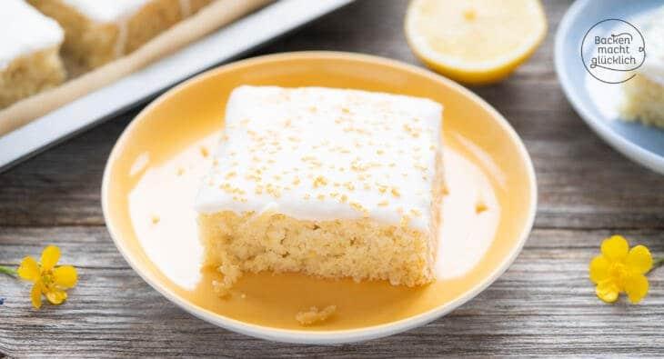 Zitronen-Blechkuchen vegan