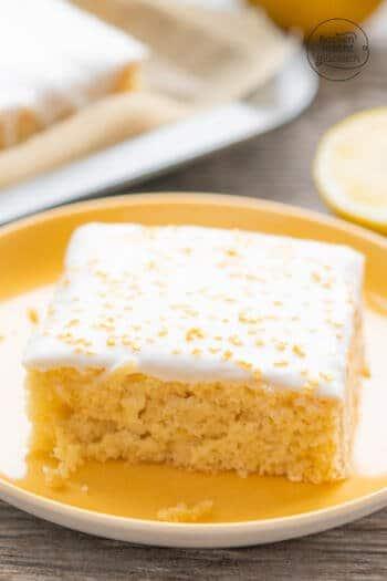 Zitronenkuchen ohne Butter, Milch, Ei