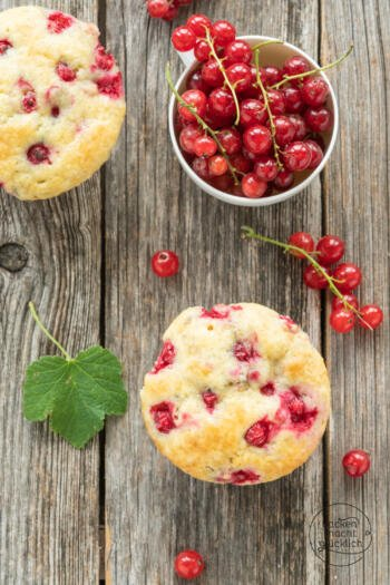 schnelle Johannisbeer-Muffins
