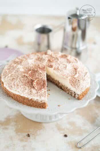 Tiramisu Torte ohne Alkohol und Kaffee