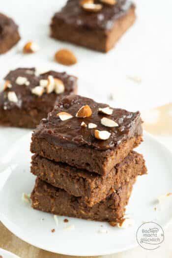 vegane Süßkartoffel-Brownies glutenfrei