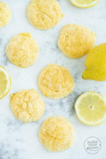 Zitronen Frischkäse Cookies