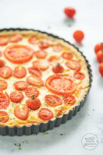 Tomaten Ziegenkäse Quiche