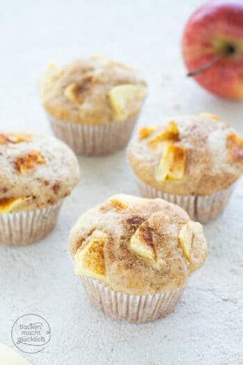 Apfelmuffins mit Öl und Joghurt